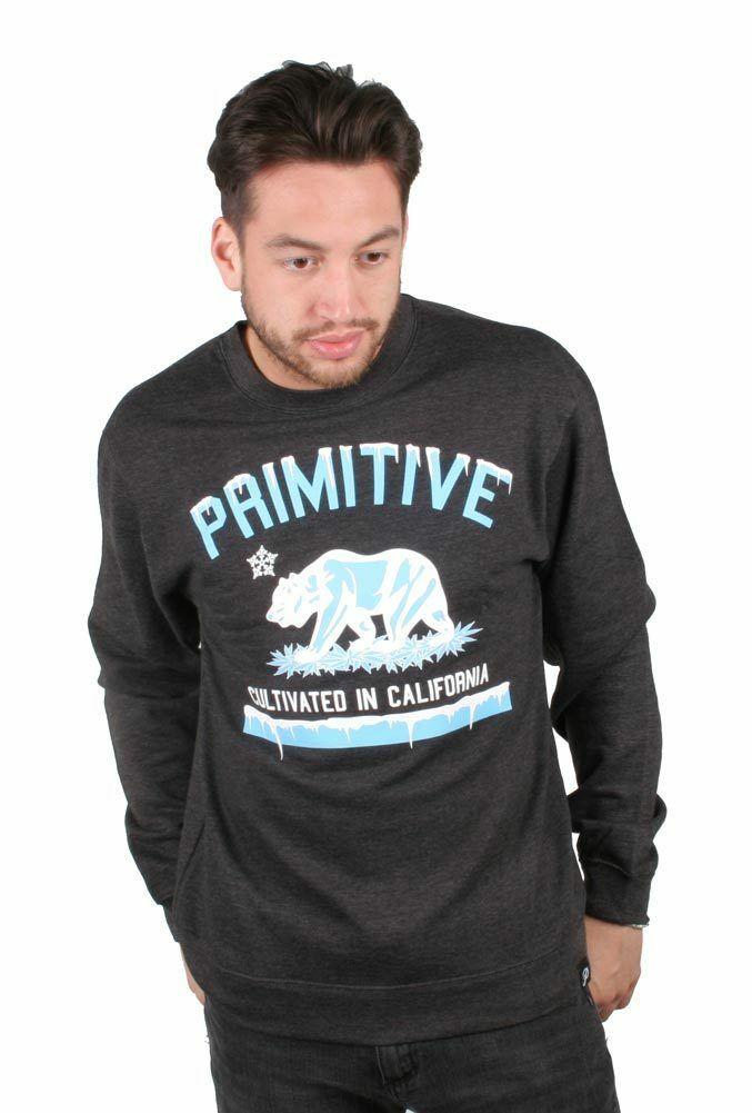 Primitive Men's Cultivated Marijauana Skate Street Wear Polar Sweat Shirt NWT