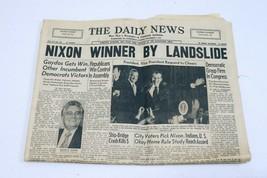 ORIGINAL Vintage Nov 8 1972 Richard Nixon Elected PA Daily News Newspaper - $59.39