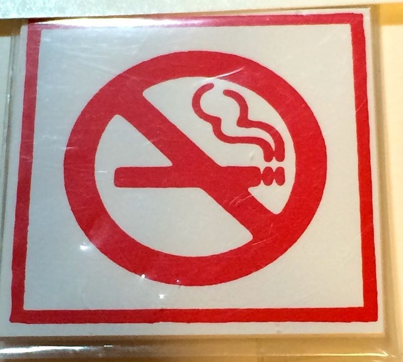 DOLLHOUSE MINIATURE NO SMOKING SIGN #DH3609
