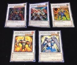 LOT of 5 Yu-Gi-Oh CARDS Synchro Yugioh commons super rare secret rare - $9.50