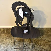 Metal Black Cat on Pumpkin Light Up LED Halloween Decor Tabletop or Wall Decor image 3