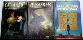 Lot 3 Alan Dean Foster HCDJ BCE CAT*A*LYST~MIDWORLD~CYBER WAY - $13.50