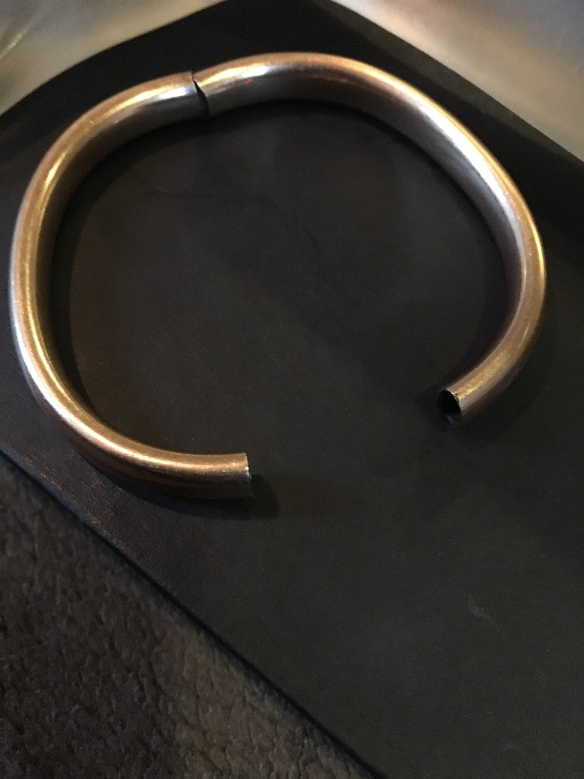 Victorian Antique Gold Filled Bangle Bracelet Smooth D&C Daggett Clap Company
