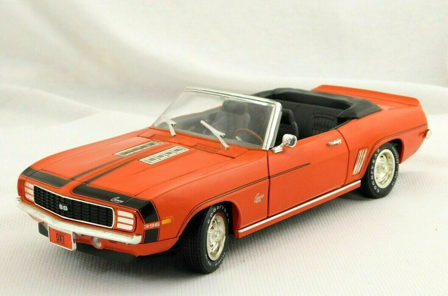 Primary image for ERTL 1969 Chevrolet Camaro SS 396 Convertible Orange Die Cast Car 1/18 No Box