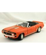 ERTL 1969 Chevrolet Camaro SS 396 Convertible Orange Die Cast Car 1/18 N... - $29.99