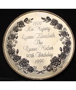 38.8mm The Queen Mother 90th Birthday Commemorative Medallion~Free Shipping - $16.52