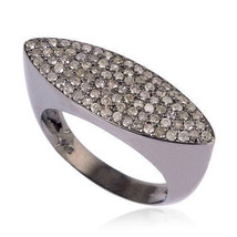925 Sterling Silver Pave Diamond Marquise Shape Ring Jewelry - $193.05
