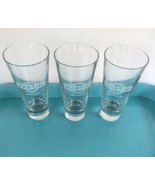 Set of 3 Martini & Rossi Etched Glasses Tall Pilsner Glass Alcoholic Bev... - $29.70