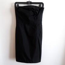 Ann Taylor Loft Size 0 Empire Waist Lined Dress Black Strapless Ruffled ... - $15.83