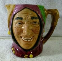 "Royal Daulton Large 6"" Tall Jester Character Toby Mug A Mark - $99.00"