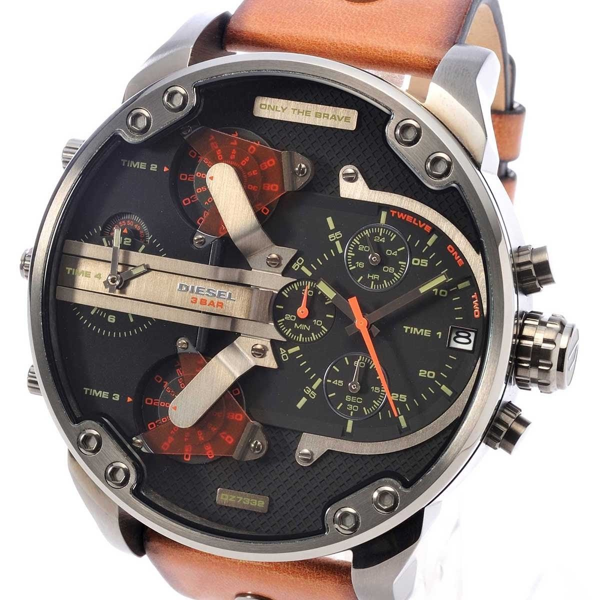 Primary image for Diesel Men's DZ7332 Mr Daddy 2.0 Gunmetal Brown Leather Watch