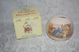 Royal Doulton Bunnykins Money Ball Bank 1988 Baby Crib Scene - $19.51
