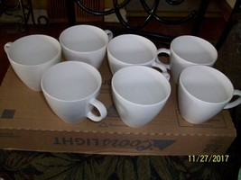 """10#   Vintage 1960's Centura By Corning """"White Coupe"""" Coffee Cups   USA - $7.85"""