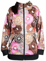 Neff Women's Snowboard Frost Shredder Donut Zip Up Hoodie Sweater Sweatshirt NWT