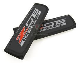 Car Seat belt Shoulder Pads fits Corvette C7 Z 06 Supercharged Embroidery - $39.00