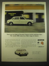 1966 Austin 1800 Car Ad - There are two kinds of security express on the... - $14.99