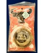 VINTAGE Wagner Brass Nose Bull Ring Self Piercing  New in Original Packa... - $12.86