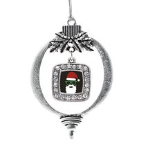Inspired Silver Hipster Santa Classic Holiday Decoration Christmas Tree Ornament - $14.69