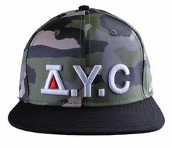 Asphalt Yacht Club Mimetico Verde Nera Caccia Cappellino Baseball AYC1410920 Nwt