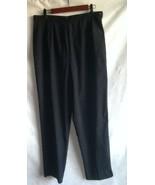 Women's SC BASICS Pants Size 14 Black Faux Suede 97% Polyester 3% Spandex - $7.69