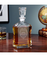 Police Badge Personalized Argos Whiskey Decanter - $59.95