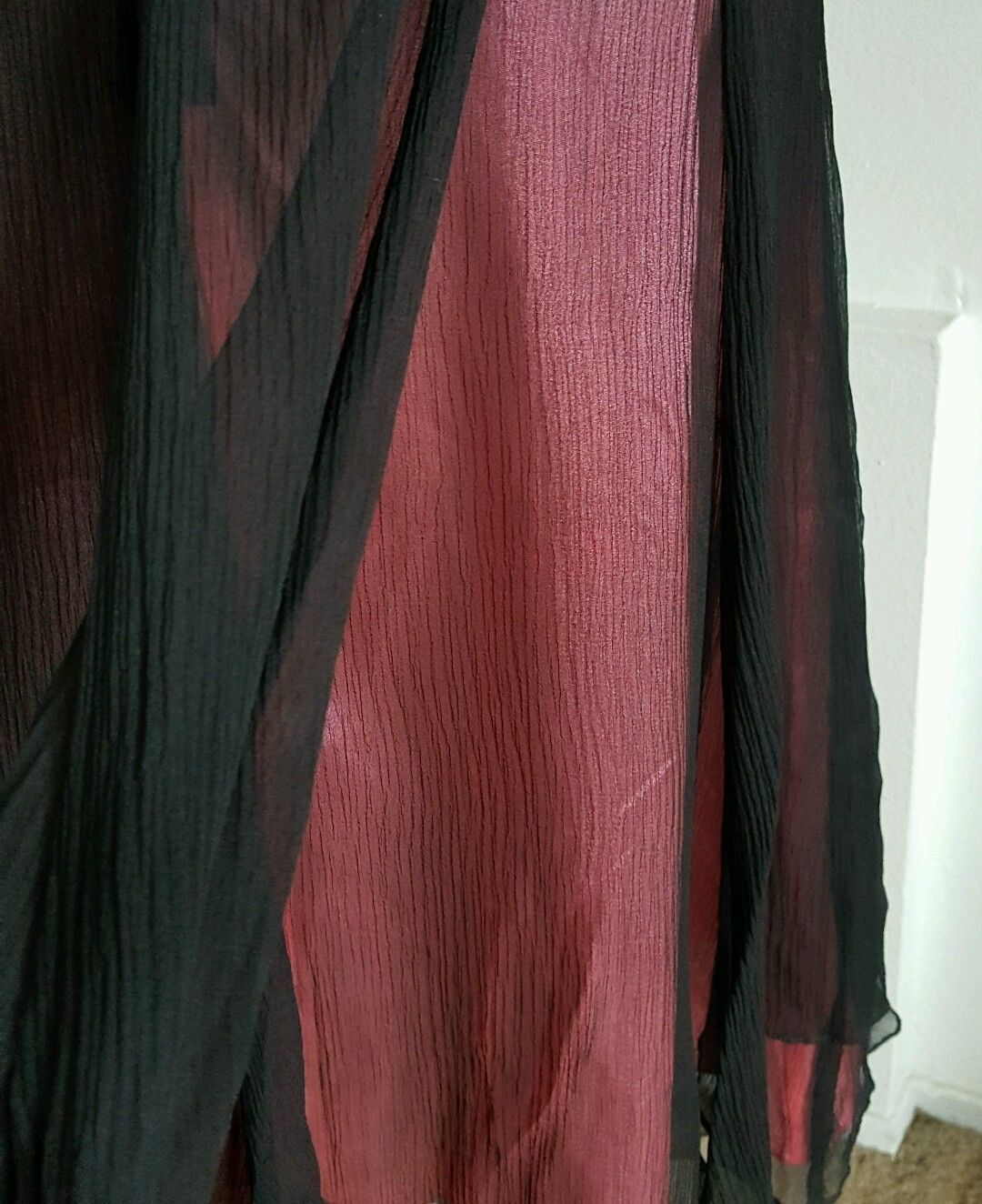 Free People Multi Layer Skirt Black Sheer Pink Solid Size 0 NWOT