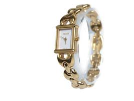 Auth GUCCI 1800L Gold Plated Band Quartz Ladies Watch GW11854L - $290.59 CAD