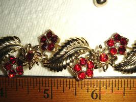 Vtg Rhinestone Flower Flower Bohemian Victorian Art Deco Style Choker Necklace - $167.99