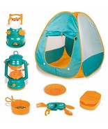 Little Explorers Kids Pop Up Play Tent with Camping Gear Outdoor Toy Too... - $32.82