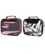 NWT PUMA Archeprint School Cool Lunch Tote Box Insulated Snack Bag in Pi... - $19.99