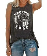 Umsuhu Find Your Road Shirts Tank Tops Women Sleeveless Summer Graphic T... - $40.10+