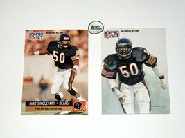 Mike Singletary #50 RB Chicago Bears Football Trading Cards AA-191699 Vintage C image 3