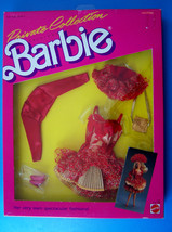 1987 BARBIE Private Collection Fashion RED SHORT FORMAL GOLD ACCESS.4510... - $29.69