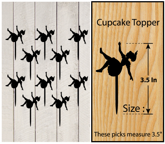 Ca449 cupcake toppers Alice In Wonderland Package : 10 pcs