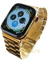 24K Gold Plated 44MM Apple Watch SERIES 4 With Gold Links Band - $1,023.17
