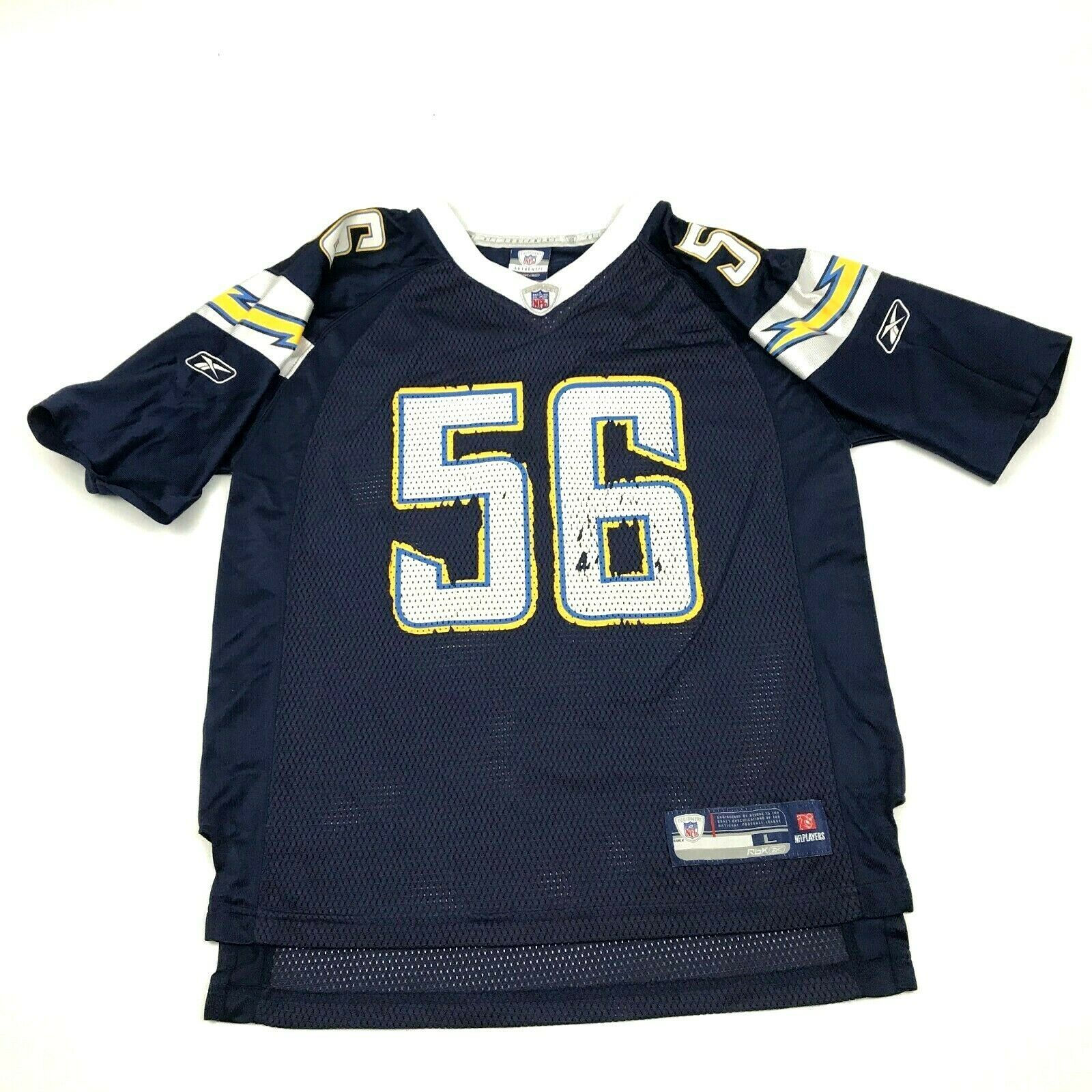Primary image for Vintage Reebok Shawne Merriman San Diego Chargers Football Jersey Jeune Taille L