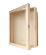 12x15 Deep Large Empty Wooden Shadow Box Picture Frame, Display Case, Fa... - $63.00