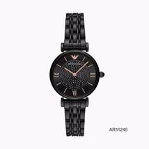 Brand New Emporio Armani Black Stainless Steel Black Crystal Dial AR1124... - $168.30