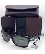 Polarized PERSOL Sunglasses 2803-S 95/58 58-16 Black Frame Grey-Green Gl... - $275.62