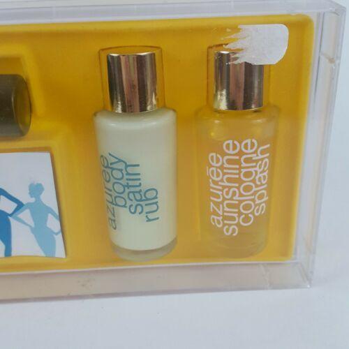 Vintage Estee Lauder Azuree Gift Set Perfumed Sunshine Cologne Splash Lotion