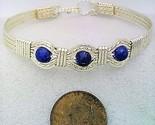Blue lapis  silver plate bracelet 1  1  thumb155 crop