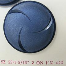 "6 Large Blue Lansing Buttons Vintage 1.5"" Loop Shank Style No. 8379 NOS ... - $18.79"
