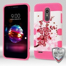 Spring Flowers/Electric Pink TUFF Trooper Hybrid Cover for LG K30/Premie... - $11.39