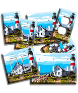 LIGHTHOUSE OCEAN CLOUDS SEA SHORE LIGHT SWITCH OUTLET WALL PLATES ROOM A... - $10.99+