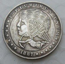 New Hobo Nickel 1887 Cupid Love Morgan Dollar Wings Casted Coin - $11.39