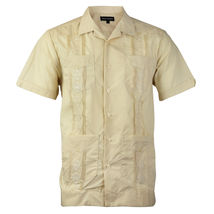 Alberto Cardinali Men's Guayabera Short Sleeve Cuban Casual Dress Shirt image 3