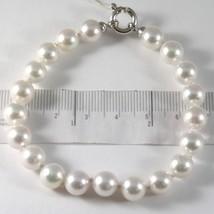 Bracelet White Gold 750 18K, String of Pearls White Akoya Diam 8 mm, Lon... - $590.71