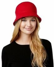 August Hats Women's Melton Love Cloche, Red, One Size - $27.34