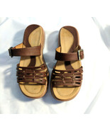Dansko Brown Leather Gladiator Strappy Slip On Sandals Womens Sz 37 EU 6... - $47.99