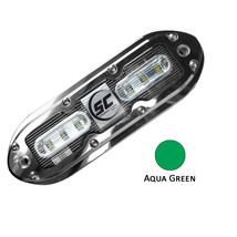 Shadow-Caster SCM-6 LED Underwater Light w/20' Cable - 316 SS Housing - Aqua Gre - $406.50